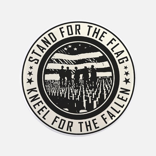 "Kneel For The Fallen 3.5"" Button"