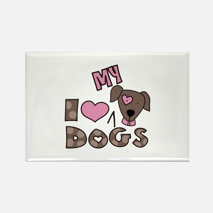 I Love My Dog Magnets