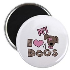 I Love My Dog Magnets