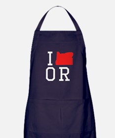 I Heart Oregon Apron (dark)