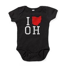 I Heart Ohio Baby Bodysuit
