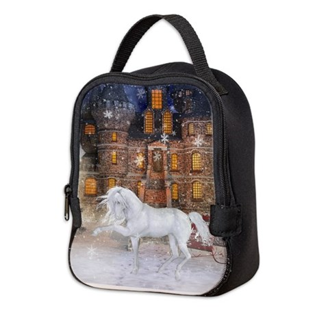 Christmas Time Neoprene Lunch Bag