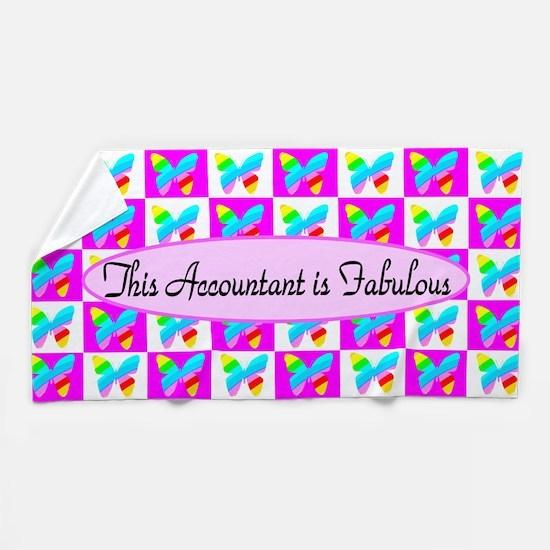 Pink Accountant Beach Towel