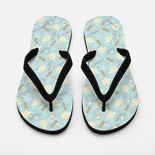 Snoopy Tiki Flip Flops