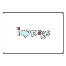 I Love Dogs Banner