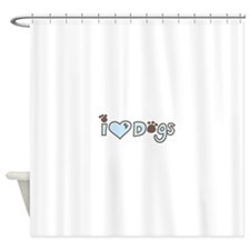 I Love Dogs Shower Curtain