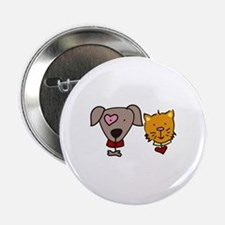 """Dog and cat 2.25"""" Button"""