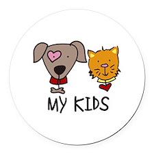 My Kids Round Car Magnet
