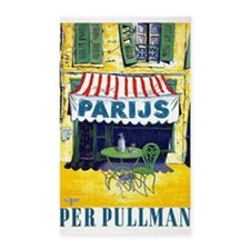 Paris, Cafe, Vintage Poster 3'x5' Area Rug