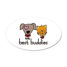 best buddies Oval Car Magnet