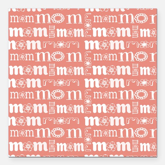 "World's Sweetest Mom Square Car Magnet 3"" x 3"""