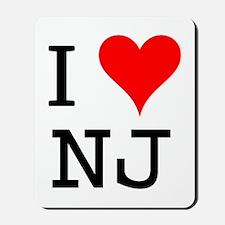 I Love NJ Mousepad