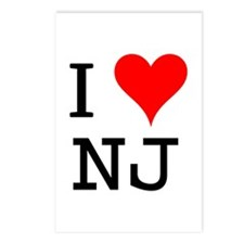 I Love NJ Postcards (Package of 8)