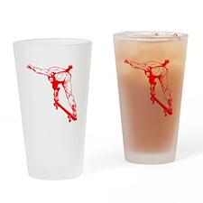 Skateboard Drinking Glass