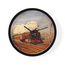 winter steam Wall Clock