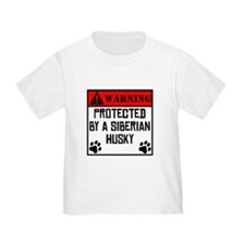 Protected By A Siberian Husky T-Shirt