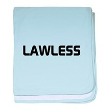 LAWLESS (outlaw hacker font) baby blanket