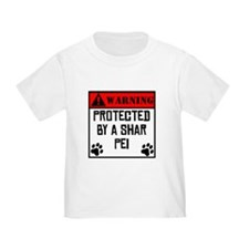 Protected By A Shar Pei T-Shirt