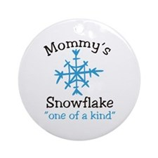 Mommys Snowflake Ornament (Round)