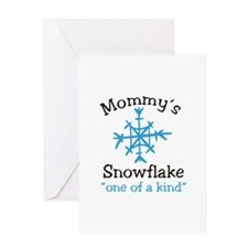 Mommys Snowflake Greeting Cards