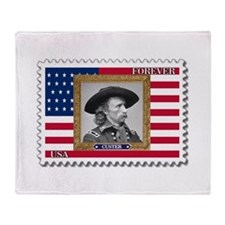 George A. Custer Throw Blanket
