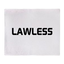 LAWLESS (outlaw hacker font) Throw Blanket
