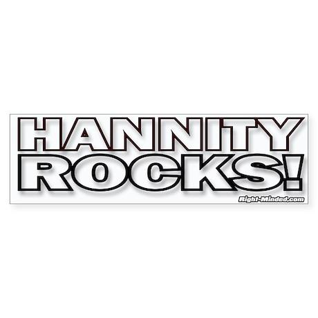 """""""HANNITY ROCKS!"""" Bumper Sticker"""
