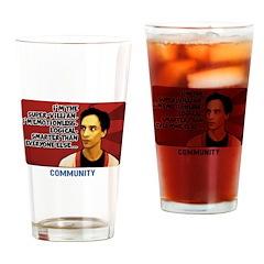 Super Villian Drinking Glass