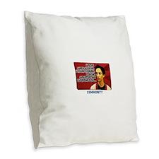 Super Villian Burlap Throw Pillow