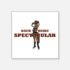 """Spectacular Girl Square Sticker 3"""" x 3"""""""