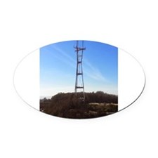 Sutro Tower Oval Car Magnet