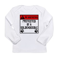 Protected By A Goldendoodle Long Sleeve T-Shirt