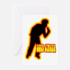 Silhouettes Soul Singer Greeting Cards (Package of