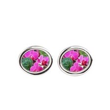 Orchids Oval Cufflinks