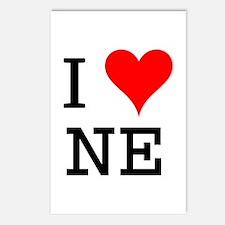 I Love NE Postcards (Package of 8)