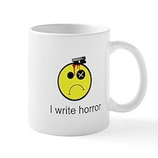 I Write Horror Unhappy Face Mug Mugs
