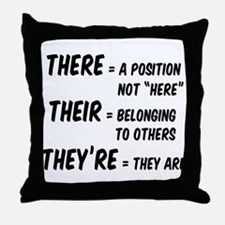 There Their They're Throw Pillow