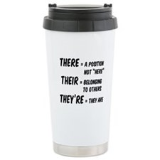 There Their They're Travel Coffee Mug
