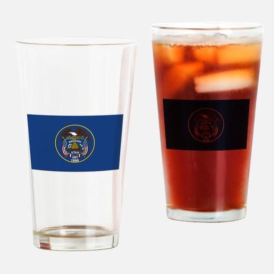 Flag of Utah Drinking Glass