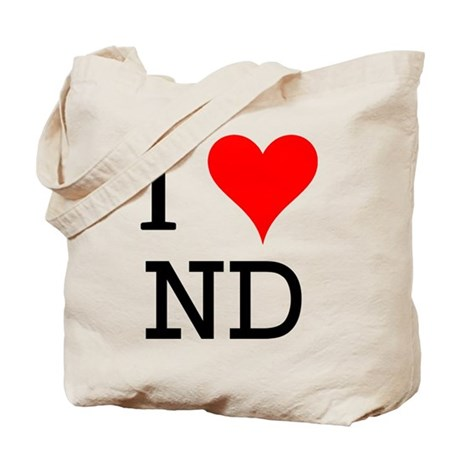 I Love ND Tote Bag