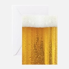Beer and Foam Greeting Cards
