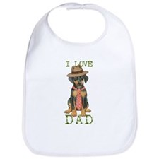 Doberman Dad Bib