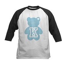 Teddy Bear with Letter K Baseball Jersey