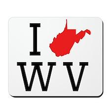 I Heart West Virginia Mousepad