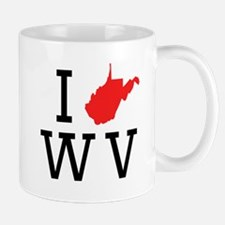 I Heart West Virginia Mugs