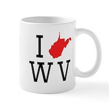 I Heart West Virginia Mugs