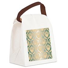 Cute Damask Canvas Lunch Bag