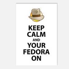 Keep Calm And Your Fedora Postcards (package Of 8)