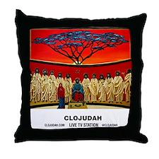 CLOJudah Rastafari Last Supper Throw Pillow