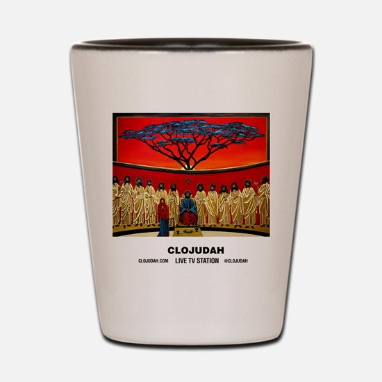 CLOJudah Rastafari Last Supper Shot Glass